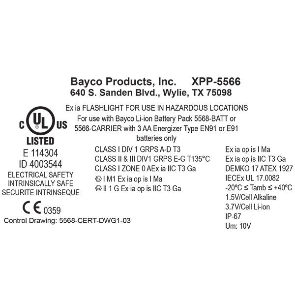 Kątowa latarka bateryjna NIGHTSTICK INTRANT XPP-5566 RX ATEX Strefa 0