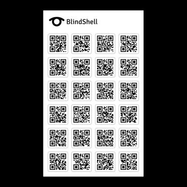 24 naklejki QR do aparatu BlindShell