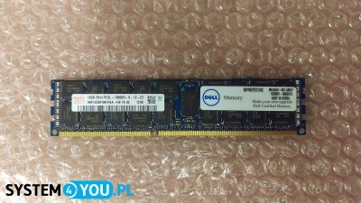 Pamięć Dell 16GB 2Rx4 DDR3 RDIMM PC3-10600R 1333MHz