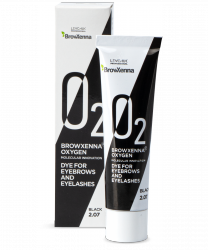 BrowXenna® OXYGEN O₂ Dye for eyebrows and eyelashes Black #2.07