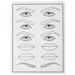 Skóra do ćwiczeń na brwiach, oczach i ustach