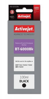 Tusz Activejet AB-6000Bk (zamiennik Brother BT-6000BK; Supreme; 100 ml; czarny)