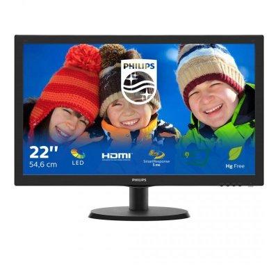 Monitor Philips 223V5LHSB2/00 (21,5; TN; FullHD 1920x1080; HDMI, VGA; kolor czarny)