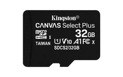 Karta pamięci Kingston Canvas Select Plus SDCS2/32GBSP (32GB; Class 10, Class A1; Karta pamięci)