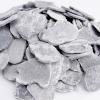 Ozdobne płatki ceramiczne szare