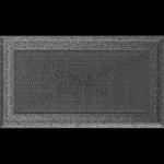 KRATKA kominkowa OSKAR 17x30 czarno-srebrna
