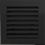 KRATKA kominkowa FRESH  czarna 17x17
