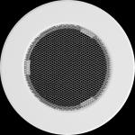 KRATKA kominkowa okrągła biała  fi 100