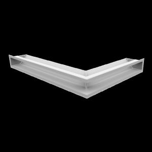 KRATKA kominkowa LUFT SF narożny lewy biały 76,6x54,7x9