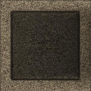 KRATKA kominkowa 22x22 czarno-złota