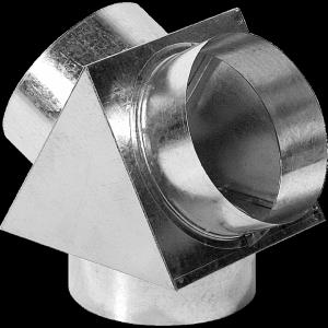 Trójnik na puszce rozprężnej 150/2x125