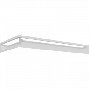 Kratka kominkowa LUFT SF narożny prawy biały 40x80x9