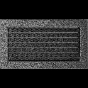KRATKA kominkowa 17x30 czarno-srebrna z żaluzją