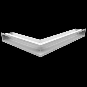 Kratka kominkowa LUFT narożny prawy biały 54,7x76,6x9