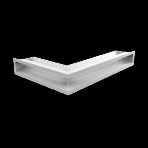 Kratka kominkowa LUFT narożny prawy biały 40x60x9