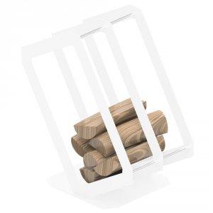 Stojak na drewno P3 biały
