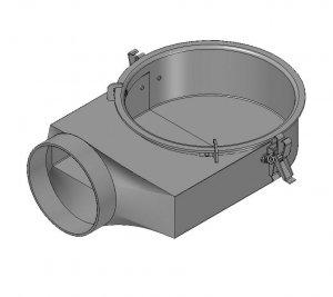 Spartherm Króciec dopływu powietrza spalania (Ø 150 mm)