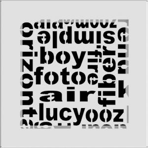 KRATKA kominkowa ABC  biała 17x17