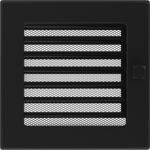 KRATKA kominkowa 17x17 czarna z żaluzją