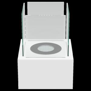 BIOKOMINEK TANGO 2 biały z certyfikatem TÜV