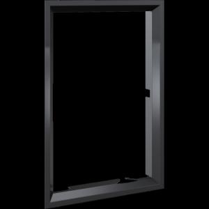 Ramka stalowa do wkładu NADIA 9 po przełożeniu drzwi