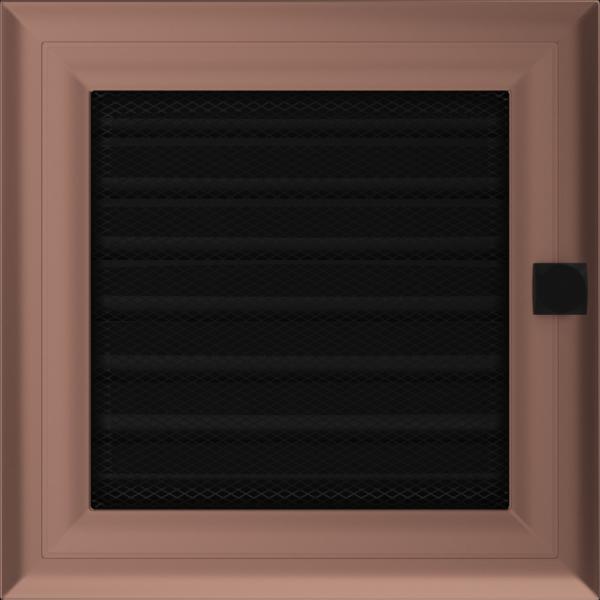 KRATKA kominkowa galwaniczna 17x17 Oskar miedziana z żaluzją