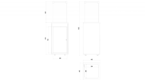 Ogrzewacz gazowy PATIO MINI szkło/czarny - pikowany - sterowanie manualne
