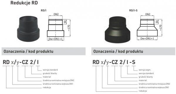 Redukcja zmniejszająca z rury DN1 220mm