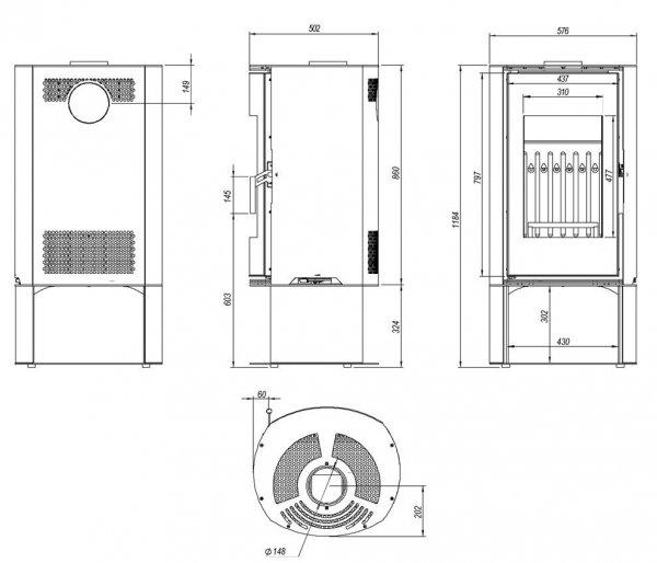 ORBIS LOG 9 kW