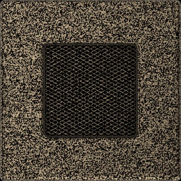 KRATKA kominkowa 11x11 czarno-złota