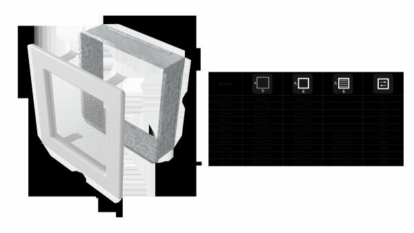 KRATKA kominkowa 22x37 niklowana z żaluzją