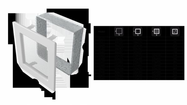 KRATKA kominkowa 11x42 biała