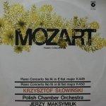Mozart, Krzysztof Słowiński, Polish Chamber Orchestra, Jerzy Maksymiuk - Piano Concertos (LP)