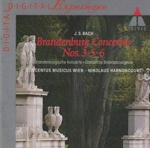 Bach : Concentus Musicus Wien / Nikolaus Harnoncourt - Brandenburg Concertos Nos. 3, 5 & 6 · Overture No. 3 (CD)