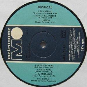 Luis Bordón - Tropical (LP)