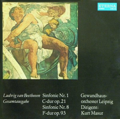 Ludwig van Beethoven - Gewandhausorchester Leipzig, Kurt Masur - Sinfonie Nr. 1, Sinfonie Nr. 8 (LP)