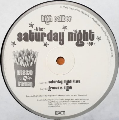High Caliber - The Saturday Night EP (12'')