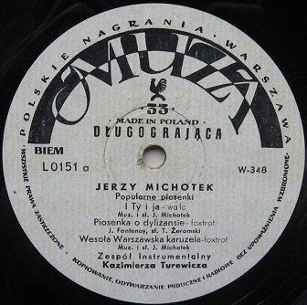 Jerzy Michotek - Popularne Piosenki (10'')