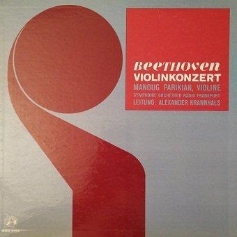 Beethoven, Manoug Parikian, Symphonie Orchester Radio Frankfurt, Alexander Krannhals - Violinkonzert (LP)