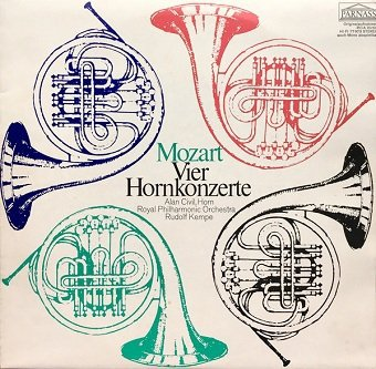 Mozart - Alan Civil, Horn - Royal Philharmonic Orchestra, Rudolf Kempe - Vier Hornkonzerte (LP)
