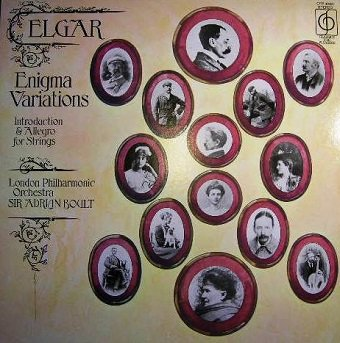 Elgar* / The London Philharmonic Orchestra / Sir Adrian Boult - Enigma Variations / Introduction & Allegro For Strings (LP)