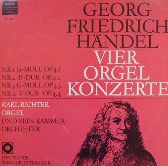 Georg Friedrich Händel - Vier Orgel Konzerte (LP)
