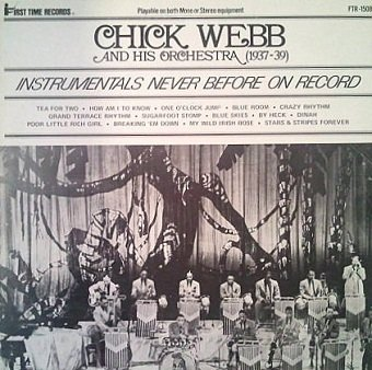 Chick Webb And His Orchestra - (1937-39) Instrumentals Never Before On Record (LP)