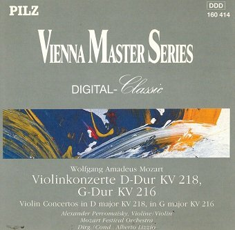 Wolfgang Amadeus Mozart - Violinkonzerte D-Dur KV 218, G-Dur KV 216 (CD)
