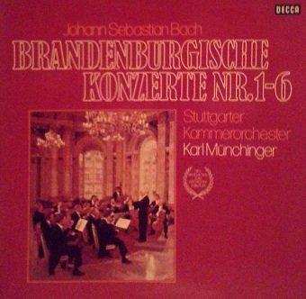 Johann Sebastian Bach - Stuttgarter Kammerorchester / Münchinger - Brandenburgische Konzerte Nr. 1-6 (2LP)