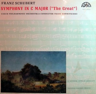 Franz Schubert, Czech Philharmonic Orchestra Conductor Franz Konwitschny - Sypmhony No. 9 In C Major (The Great) (LP)