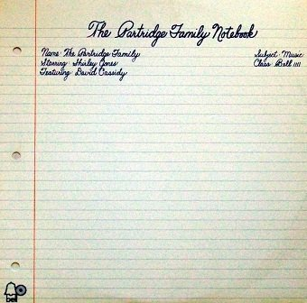 The Partridge Family starring Shirley Jones featuring David Cassidy - The Partridge Family Notebook (LP)