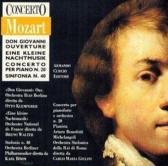 Wolfgang Amadeus Mozart - Eine Kleine Nachtmusik, Piano Concerto #20, Symphony #40 (CD)