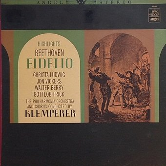 Beethoven, Klemperer, Philharmonia Orchestra, Philharmonia Chorus, Christa Ludwig, Jon Vickers, Walter Berry, Gottlob Frick - Fidelio - Highlights (LP)