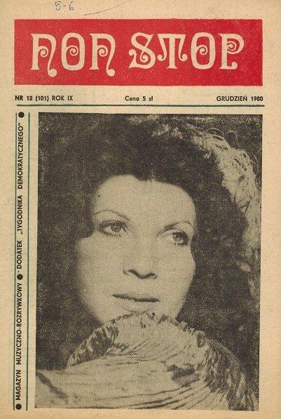 Non Stop 12 (101) Grudzień 1980 Krystyna Prońko